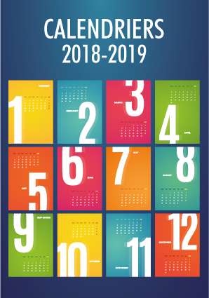 Calendriers 2018-2019