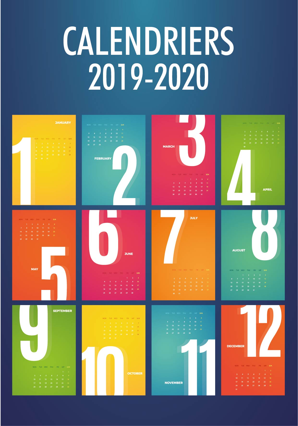 Calendriers Scolaires 2019-2020
